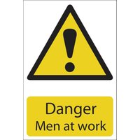 Draper Danger Men At Work Sign 200mm 300mm Standard
