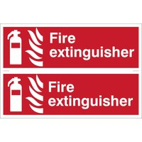 Draper Fire Extinguisher Sign Pack of 2 300mm 100mm Standard