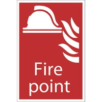 Draper Fire Point Sign 200mm 300mm Standard