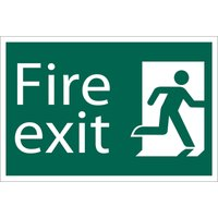 Draper Fire Exit Sign 200mm 300mm Standard