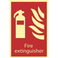 Draper Fire Extinguisher Sign 200mm 300mm Photoluminescent