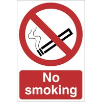 Draper No Smoking Sign 400mm 600mm Standard