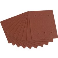 Draper Punched 1 4 Sanding Sheets 115mm x 145mm 100g Pack of 10