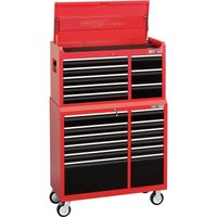 Draper Expert 20 Drawer Tool Roller Cabinet & Top Chest Combination Red