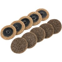 Draper Polycarbide Abrasive Pad Disc 50mm 50mm Coarse Pack of 10