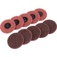 Draper Polycarbide Abrasive Pad Disc 75mm 75mm Medium Pack of 10