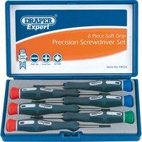 Draper Expert 6 Piece Soft Grip Precision Screwdriver Set