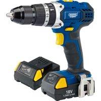 Draper Expert 18V Cordless Combi Hammer Drill 2 x 1.5ah Li-ion Charger Case
