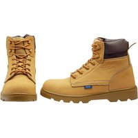 Draper Mens Nubuck Style Safety Boots Tan Size 12