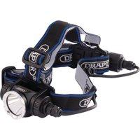 Draper 10W Rechargeable LED Head Torch Black