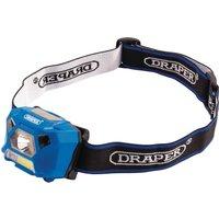 Draper 3W Rechargeable COB LED Head Torch Blue