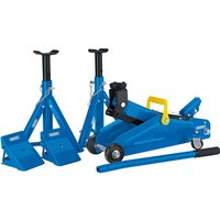 Draper Trolley Jack and Axle Stands Combination Kit 2 Tonne