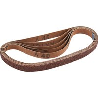Draper 13mm x 457mm Aluminium Oxide Sanding Belts 13mm x 457mm 40g Pack of 5