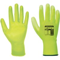 Portwest PU Palm General Handling Grip Gloves Yellow L