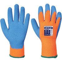 Portwest Latex Grip Gloves for Cold Conditions Orange / Blue L