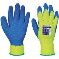 Portwest Latex Grip Gloves for Cold Conditions Yellow / Blue L