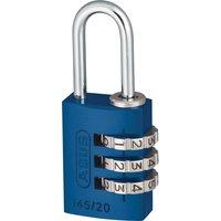 Abus 145 Series Aluminium Combination Padlock 20mm Blue Standard