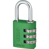 Abus 145 Series Aluminium Combination Padlock 30mm Green Standard