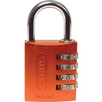Abus 145 Series Aluminium Combination Padlock 40mm Orange Standard