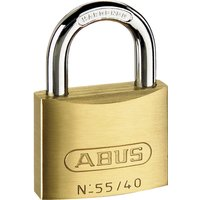 Abus 55 Series Basic Brass Padlock Pack of 2 Keyed Alike 40mm Standard