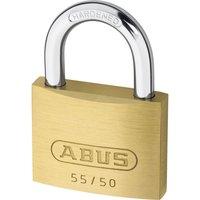Abus 55 Series Basic Brass Padlock Keyed Alike 50mm Standard 5502