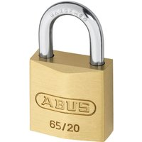 Abus 65 Series Compact Brass Padlock Keyed Alike 20mm Standard 204
