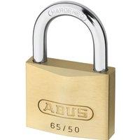 Abus 65 Series Compact Brass Padlock 50mm Standard Keyed Alike