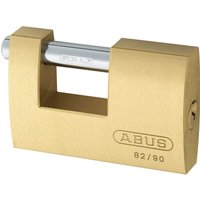 Abus 82 Series Monoblock Brass Shutter Padlock 90mm Standard