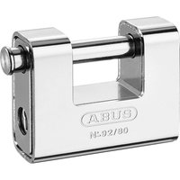 Abus 80mm 92 Series Steel Clad Body Brass Shutter Padlock 80mm Standard