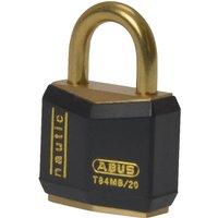 Abus T84 Series Brass Padlock 25mm Black Standard