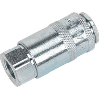 Sealey PCL Air line Coupling Body Female 1 4  Bsp Pack of 1