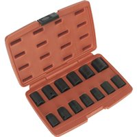 Sealey 13 Piece 1/2 Drive Hexagon WallDrive Impact Socket Set Metric 1/2