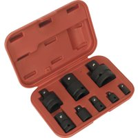 Sealey 8 Piece Impact Socket Adaptor Set in Storage Case