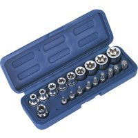 Sealey 19 Piece 3/8 Drive Torx Socket & Screwdriver Bit Set 3/8