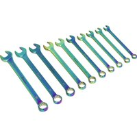 Sealey 10 Piece Titanium Coated Combination Spanner Set Metric