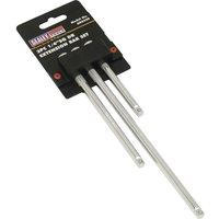 Sealey 3 Piece 1/4 Drive Socket Extension Bar Set 1/4