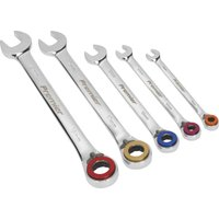 Sealey 5 Piece Magnetic Stop Ring Ratchet Combination Spanner Set