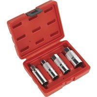 Sealey 4 Piece 3/8 Drive Spark Plug Socket Set 3/8