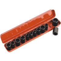 Sealey 12 Piece 3/8 Drive Hexagon Impact Socket Set Metric & Imperial 3/8