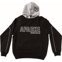 Apache Mens Work Hoodie Black / Grey M