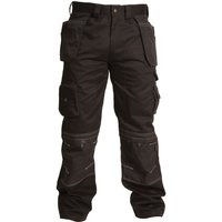 "Apache Mens Holster Pocket Trousers Black 42"" 31"""