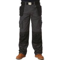"Apache Mens Holster Pocket Trousers Black / Grey 36"" 29"""