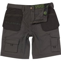 Apache Rip Stop Holster Light Weight Work Shorts Grey 30""