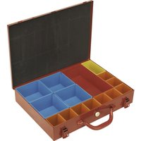 Sealey 15 Compartment Metal Organiser Case