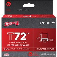 Arrow T72 Insulated Staples 5mm Pack of 300