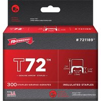 Arrow T72 Insulated Staples 9mm Pack of 300