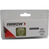 Arrow 18 Gauge Brad Nails 15mm Pack of 1000