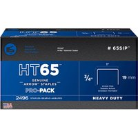 Arrow HT65 Stainless Steel Wide Crown Staples 19mm Pack of 600