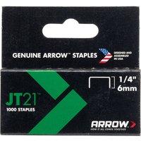 Arrow Staples for JT21 / T27 Staple Guns 6mm Pack of 1000