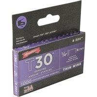 Arrow T30 Staples 6mm Pack of 1000